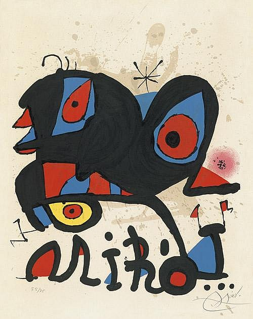 Joan Miro, Poster for Exhibition
